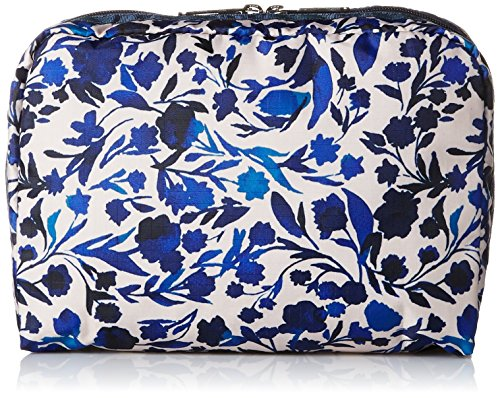 LeSportsac Extra Large Rectangular Cosmetic Case, Blooming Silhouettes, One Size Blooming Silhouette
