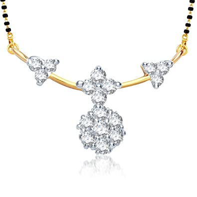 d2bac0c21 Buy Amaal Traditional Jewellery Gold Diamond Necklace Pendant Mangalsutra Set  for Women with Chain -MS0752 Online at Low Prices in India