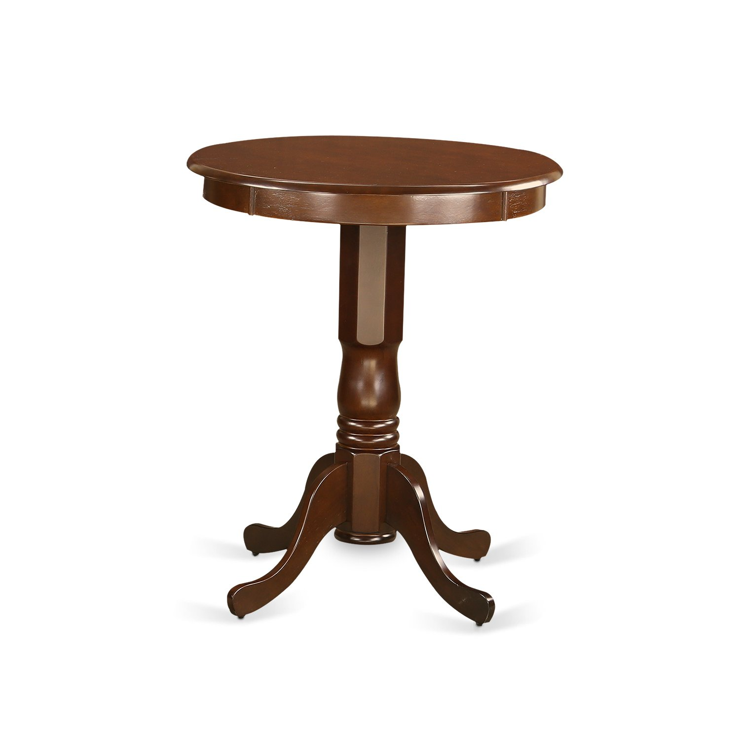 EDT-MAH-TP round counter height Table in mahogany