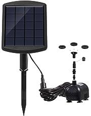 Lewisia 1.8W Solar Water Fountain Pump for Pool Koi Pond Bird Bath Garden Decoration Solar Powered Submersible Water Pump Kit