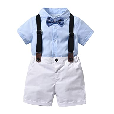 AIKSSOO Pantalones Cortos con Camisa Mangas Bib Pantalones ...