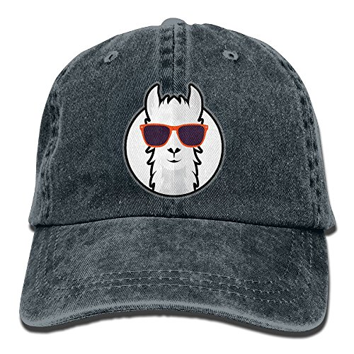 AOSHICO Cool Llama With Sunglass Plain Washed Dad Solid Cotton Polo Style Baseball Cap Hat - Sunglasses Taylor 1989 Swift