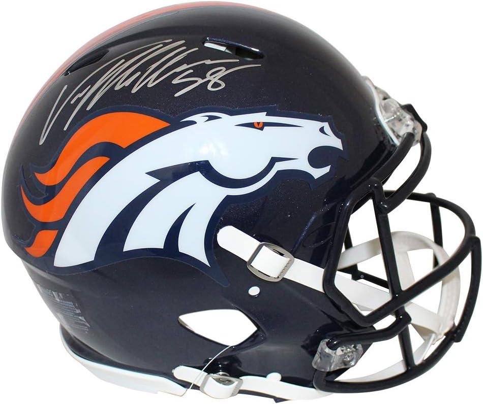 Von Miller Autographed//Signed Denver Broncos Authentic Speed Helmet JSA