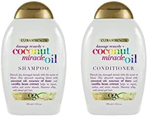 OGX coconut miracle oil shampoo and conditioner 385ml