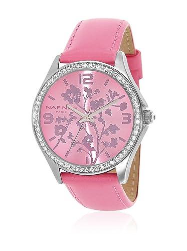NAF NAF Reloj de Cuarzo Woman BC RD Petites FLEUERS 36 mm: Amazon.es: Relojes