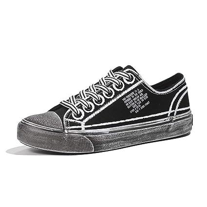 5961a1104608b Amazon.com : XLY Women's Classic Vintage Canvas Shoes, Low-top Flat ...