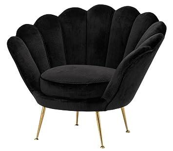 Casa-Padrino sillón de Lujo Negro/latón 96,5 x 79 x H. 78 cm ...