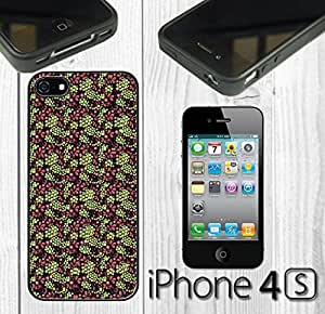 Beautiful Grape Pattern Custom made Case/Cover/skin FOR iPhone 4/4s - Black - Rubber Case ( Ship From CA) by mcsharks