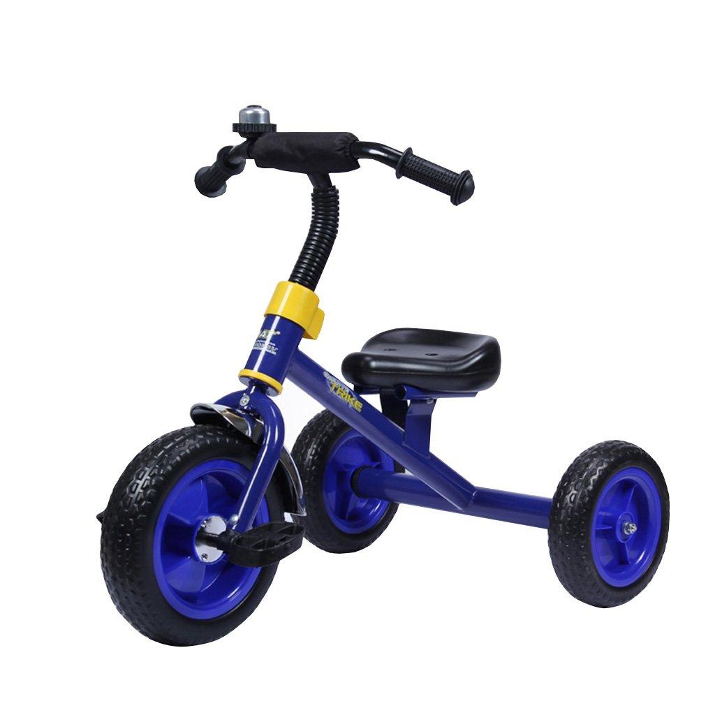 子供のマルチカラー三輪車のバイク1-5男性と女性の赤ちゃんの子供の足の衝撃吸収材の自転車のベビーカー (色 : 青) B07F2FYTCF 青 青