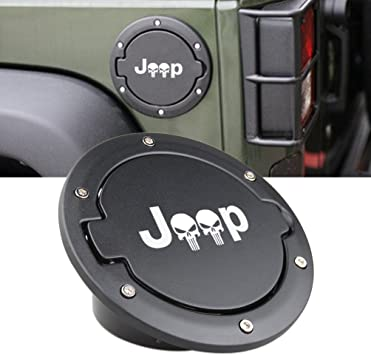 omotor Gas Cap Fuel Door Gas Tank Cover for 2018 2019 Jeep Wrangler JL JLU 2-Door 4-Door