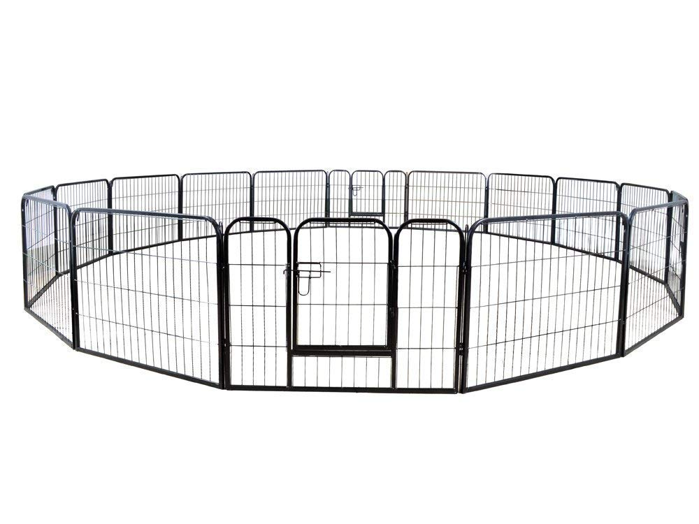 24 Hight 16 Panel Heavy Duty PlayPen Cage Pet Dog Fence Exercise Metal Kennel