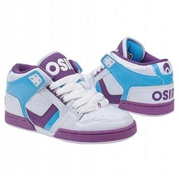 Osiris South Bronx Skate Shoes Girls Blue   Grey   Purple 29a5f313b7a