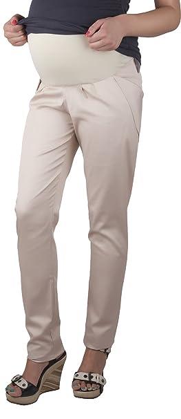 Mija - Pantalones modernos de maternidad Harem Alladin 9039 (EU 34, Beige)