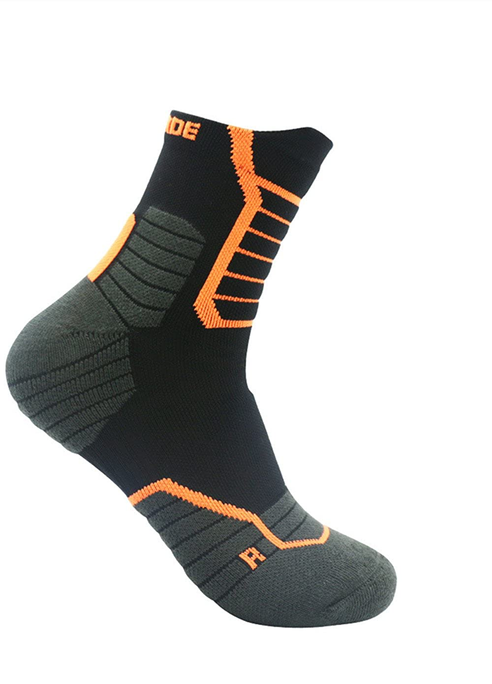 Outdoor Men's Anti-stodgy and Anti-odorizing Improve Foot Health Comfort Circulation For Mountain Running,Traveling Towel Bottom Thickening of Sports Socks.
