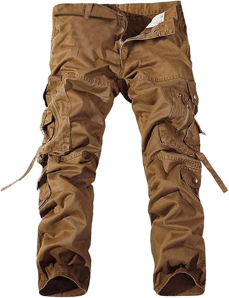 HucodeVan Pantalones Hombre Casual Bermudas Cargo Vintage Pantalon ...