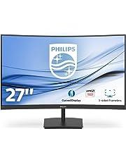 """Philips Monitor Gaming 271E1SCA Monitor, Adaptive Sync 75 Hz, VA LED 27"""", FHD, 4 ms, HDMI, VGA, Casse Integrate, Flicker Free, Low Blue Light, VESA, Nero"""