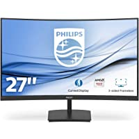 "Philips Monitor Gaming 271E1SCA Monitor, Adaptive Sync 75 Hz, VA LED 27"", FHD, 4 ms, HDMI, VGA, Casse Integrate, Flicker Free, Low Blue Light, VESA, Nero"