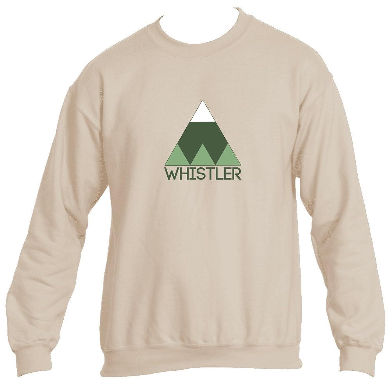 Whistler BC Minimal Mountain - Canada Men s Crewneck Sweatshirt ... e36d03348d