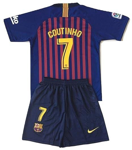 e76a80c8159 Gadzhinski2017 Coutinho  7 Barcelona 2018-2019 Kids Youths Home Soccer  Jersey   Shorts