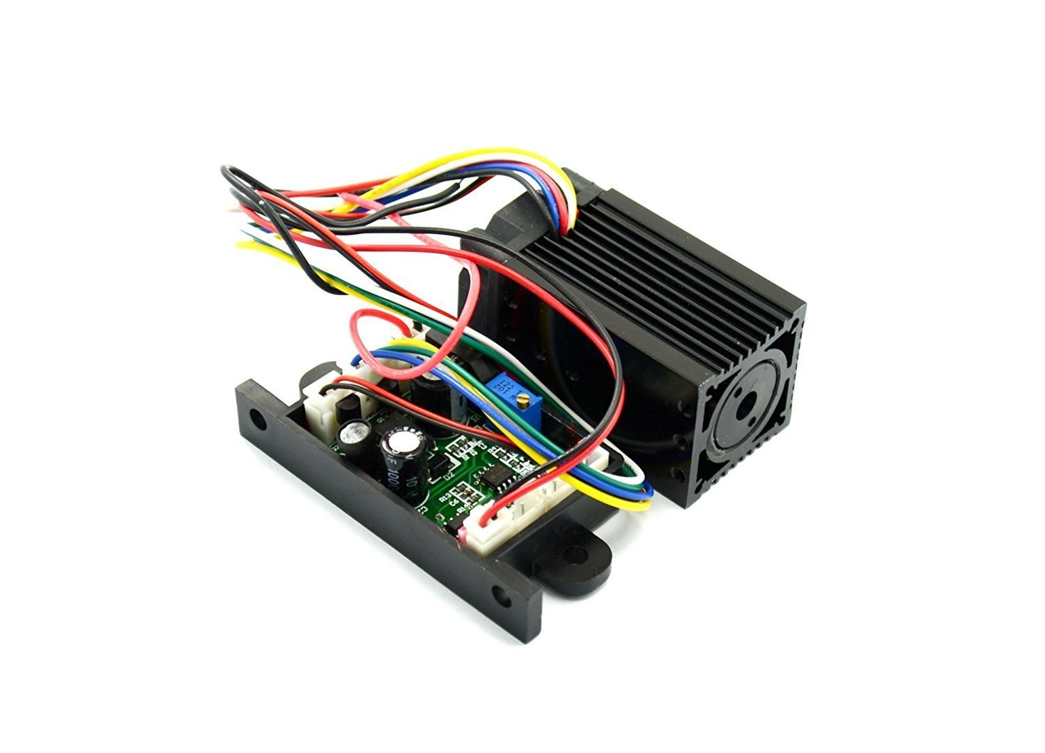 532nm 50mw Focusable Green Diode Laser Dot Module 12VDC w/ Fan Cooling & TTL 0-30KHZ-Long time working