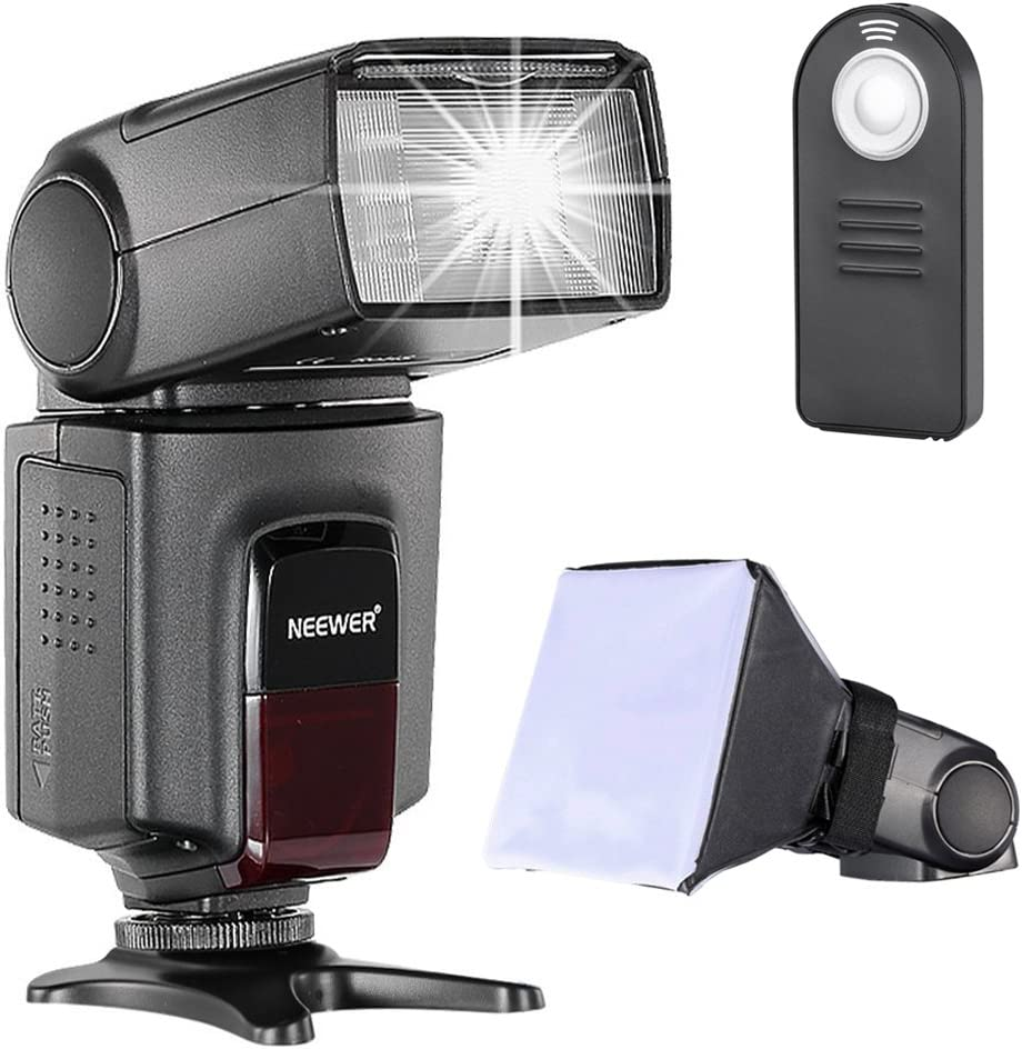 Neewer TT560 Speedlite Flash Kit for Canon Nikon Sony Pentax DSLR Camera with Standard Hot Shoe,Includes: (1)TT560 Flash + (1)Flash Diffuser + (1)Remote Control