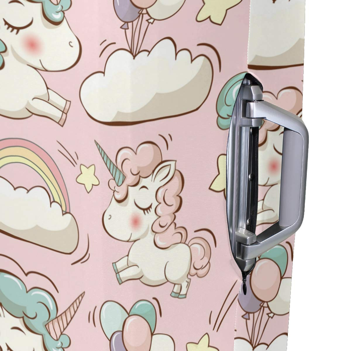 FOLPPLY Funny Cartoon Sheep With Birds Luggage Cover Baggage Suitcase Travel Protector Fit for 18-32 Inch