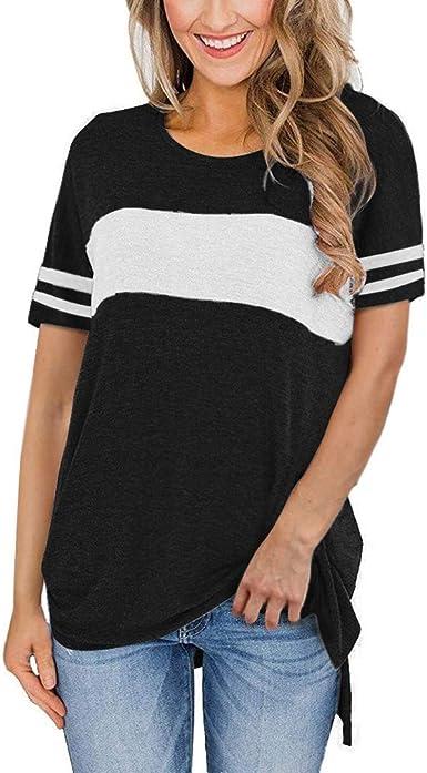 Xia/&Han Womens Printed Short Sleeve Shirt Slash Slit Blouse Tunic Top Boat Neck Tees Pullover