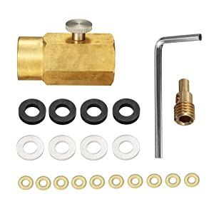 CO2 Cylinder Refill Adapter Connector Kit CGA320 Thread Set for Filling SodaStream Tank