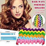 30 Pieces Hair Curlers Spiral Curls Styling Kit