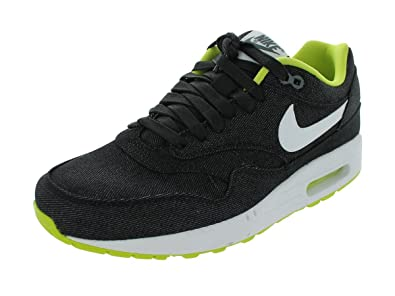 promo code 4a1da 6fbab Nike Men s AIR MAX 1 PRM RUNNING SHOES 11.5 Men US (BLACK WHITE