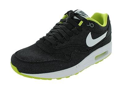 a2848d9be26c Nike Men s AIR MAX 1 PRM RUNNING SHOES 11.5 Men US (BLACK WHITE