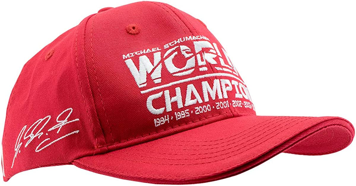 Red Michael Schumacher World Champion Kids Cap