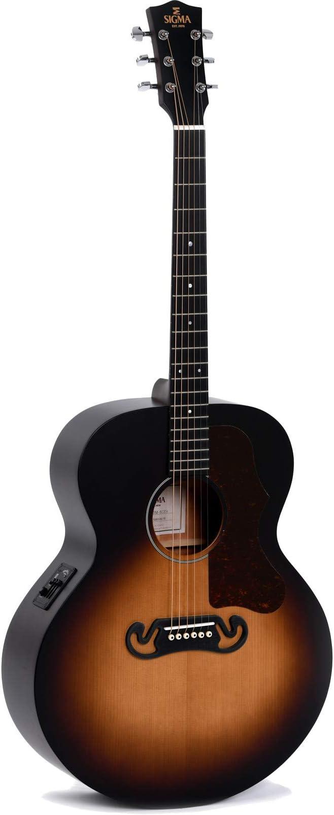 Sigma Guitars GJM-SGE+ Grand Jumbo - Guitarra eléctrica, color ...