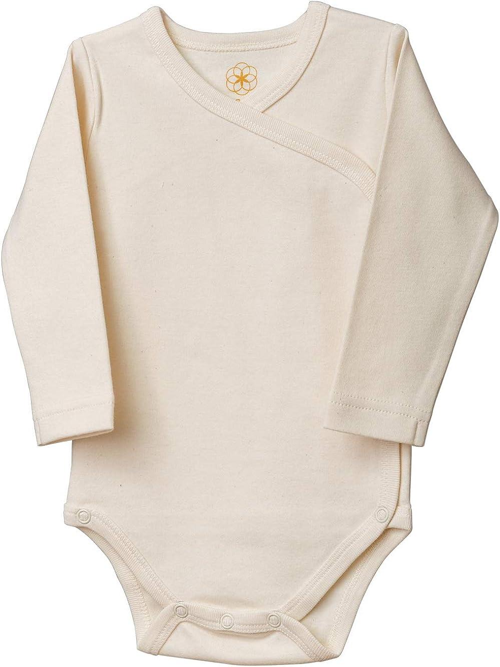 Sch/önheit der Natur GOTS Zertifiziert Organic by Feldman Unisex Baby Body Langarm Wickelbody aus Bio Baumwolle