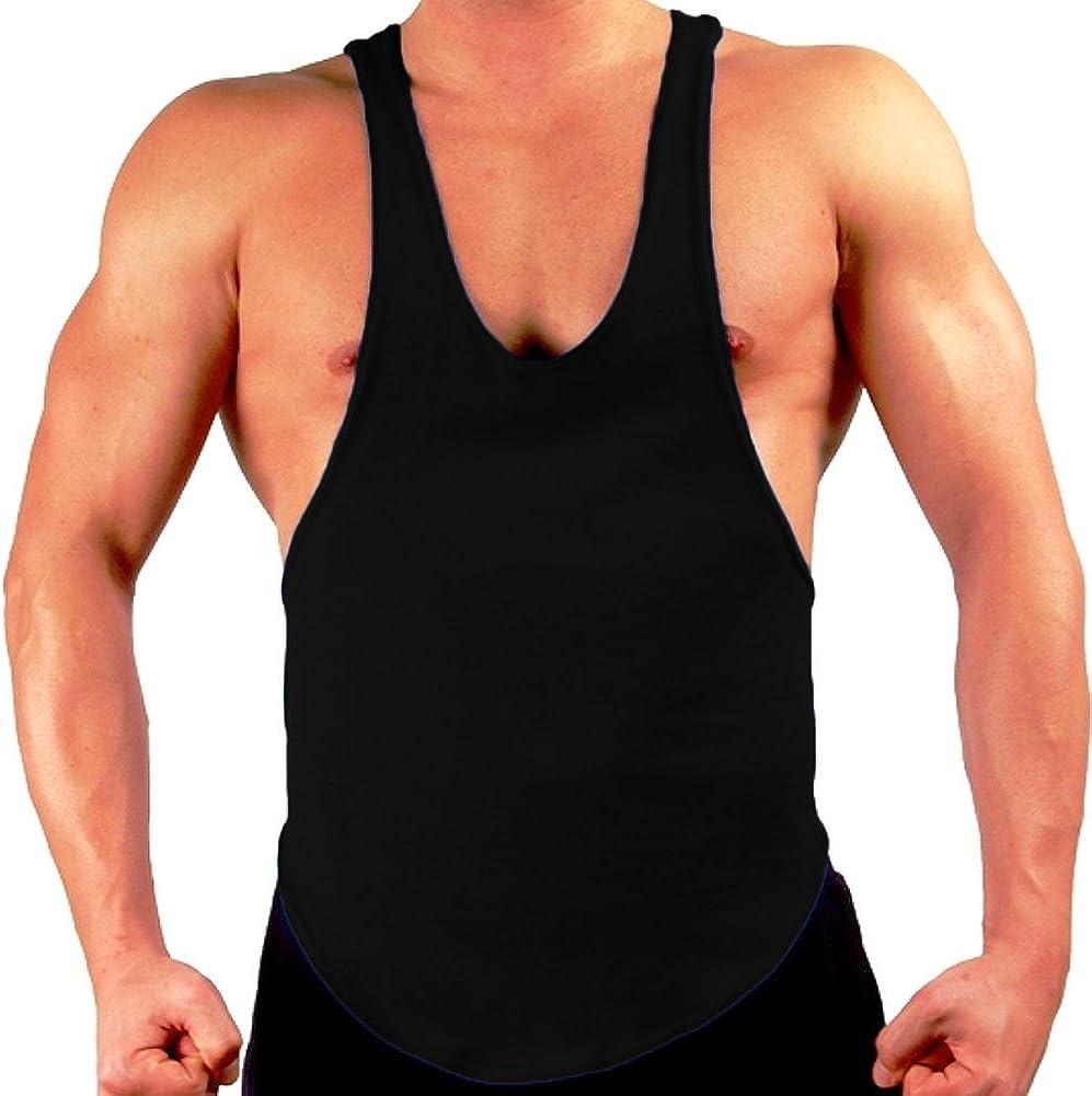 Gym Men/'s Muscle Sleeveless Tank Top Tee Shirt Bodybuilding Sport Vest UK Stock
