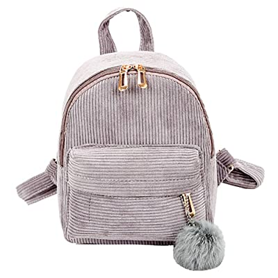 ❤️ Sunbona Schoolbag Girl Hairball Corduroy School Bag Student Backpack Satchel Travel Shoulder BagShoulder School Bag | Kids' Backpacks