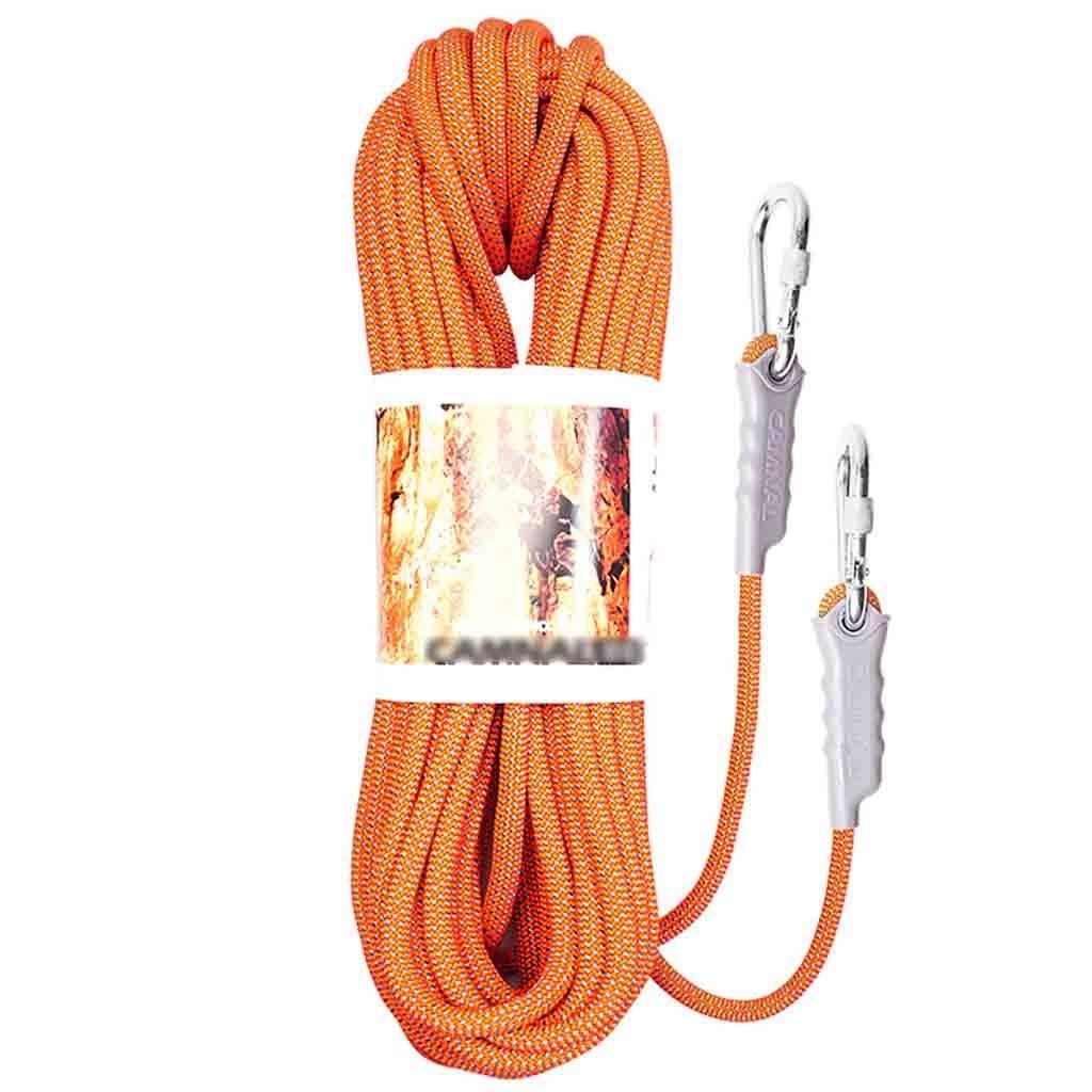 Vert équipement d'escalade Corde d'escalade extérieure anti-glisse en nylon, résistante à l'usure, corde d'escalade tissée à 5 Âmes d'un diamètre de 8 mm, tension de 40 g, tension statique  1600 kg d