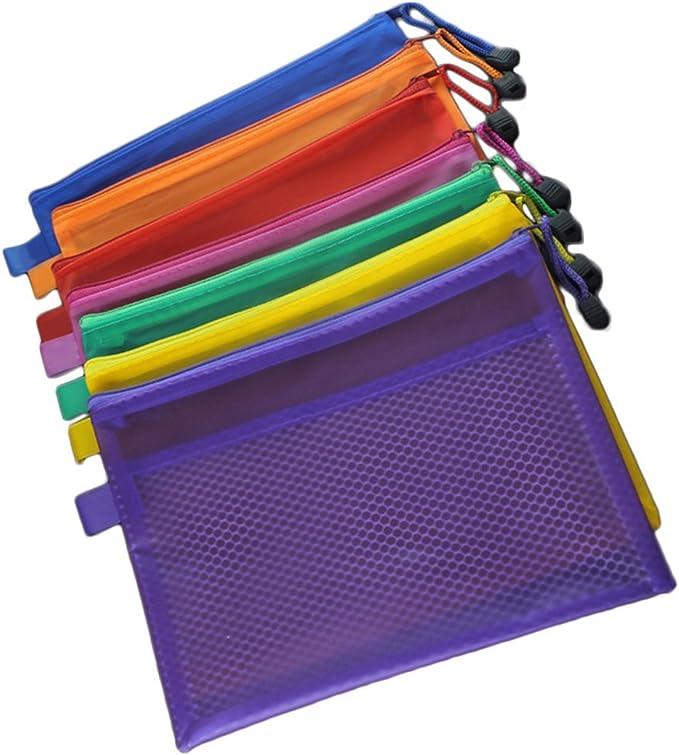 Cosanter Carpeta Portafolios A4 con Cremallera Conveniente para la Oficina Color al Azar: Amazon.es: Oficina y papelería