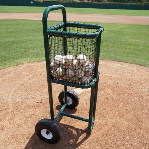 BSN Sports Batting Practice Ball Cart, Green
