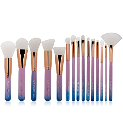 15PCS Sannysis 2019 Sets de brochas de maquillaje profesional colorful
