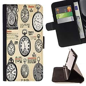 Dragon Case - FOR LG G2 D800 - Classical clocks - Caja de la carpeta del caso en folio de cuero del tir¨®n de la cubierta protectora Shell
