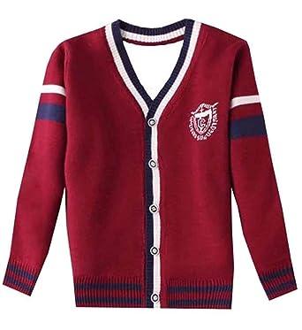 a496ec2384b77 Lisa Pulster ボーイズ カーディガン キッズ 子供服 セーター フォーマル 女の子 男の子 Vネック 前開き 長袖