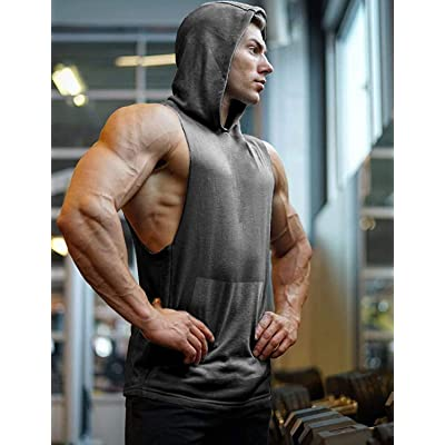 UK Mens Summer Fitness Tank Tops T-Shirt Sport Gym Bodybuilding Muscle Tees Vest