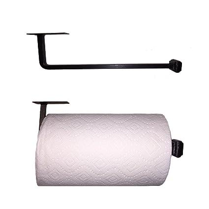 amazon com adobe wrought iron paper towel holder under cabinet rh amazon com under cabinet mount paper towel holder oil rubbed bronze cabinet door mount paper towel holder