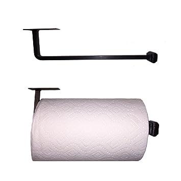 Amazon.com: Adobe Wrought Iron Paper Towel Holder Under Cabinet Mount,  Black Iron Finish: Kitchen U0026 Dining