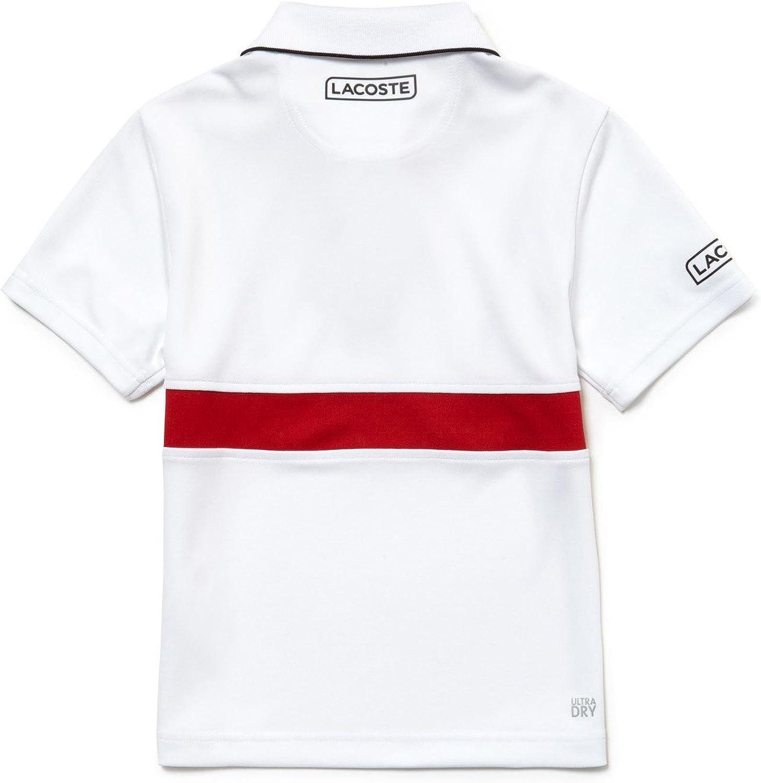 Lacoste Polo Kids DJ5729 Rojo 16A Blanco: Amazon.es: Ropa y accesorios