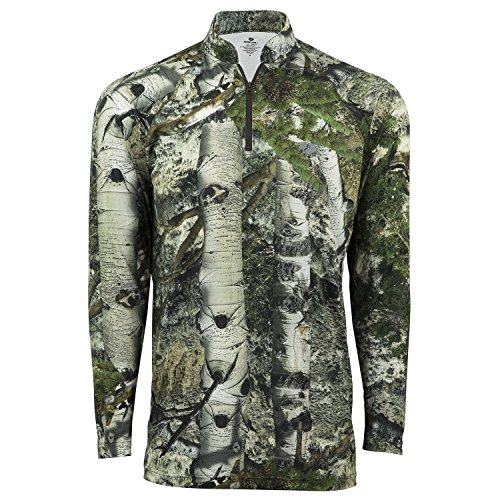 Mossy Oak Lightweight Hunting 1/4 Zip Shirt, Mountain Country, X-Large