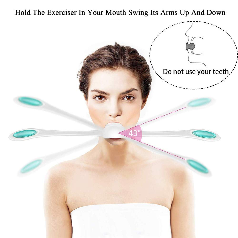 Clearance Sale!UMFun Facial Fitness Muscle Trainer Facial Flex Face Exercise Anti Aging Smooths Face Trainer