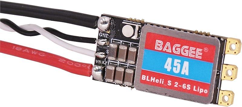 Opinión sobre #N/A/a 2-6S blheli-s sin escobillas ESC Controlador de Velocidad electrónico Soporte Mulitshot doneshot125 Parte del Drone - 45A
