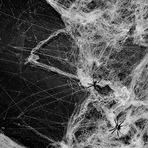 Party DIY Decorations - Halloween Scary Party Scene Props White Stretchy Cobweb Spider Web Horror Decoration House - Decorations Decorative Decorating Halloween]()